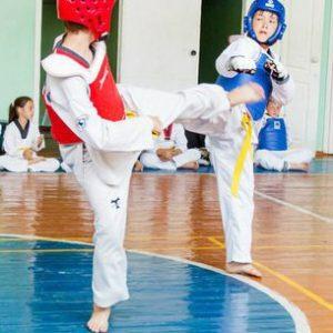 Тренировка перед соревнованиями по Тхэквондо