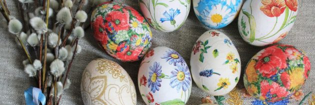 Мастер-класс «Декупаж пасхальных яиц»