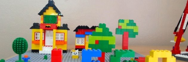 Архитектурное сооружение из лего