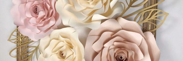 Ростовые цветы в технике бумагопластика