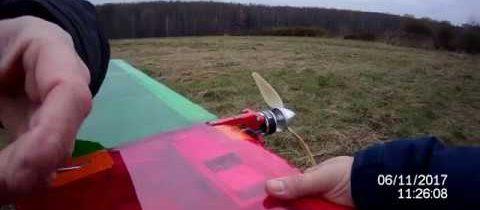 Подготовка кордовой модели «Ветерок-2» к запуску