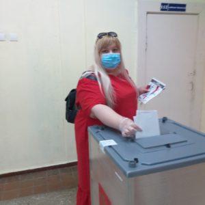 методист Клилович ОВ на избирательном участке
