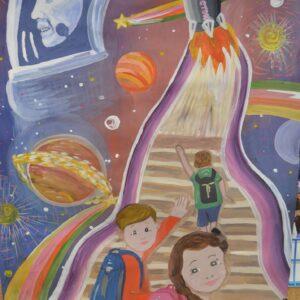 Детский рисунок о космосе
