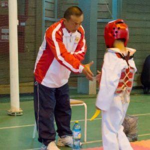 Обучающиеся на соревнованиях по Тхэквондо