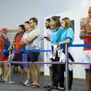 Зрители соревнований по тэхэквондо