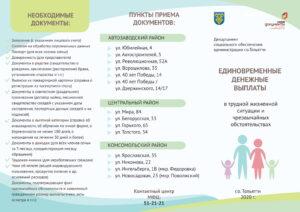 Список документов на единовременные денежные выплаты на детей и пункты приема документов