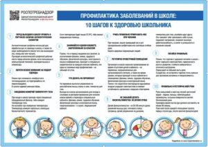 "плакат ""профилактика заболеваний в школе"""